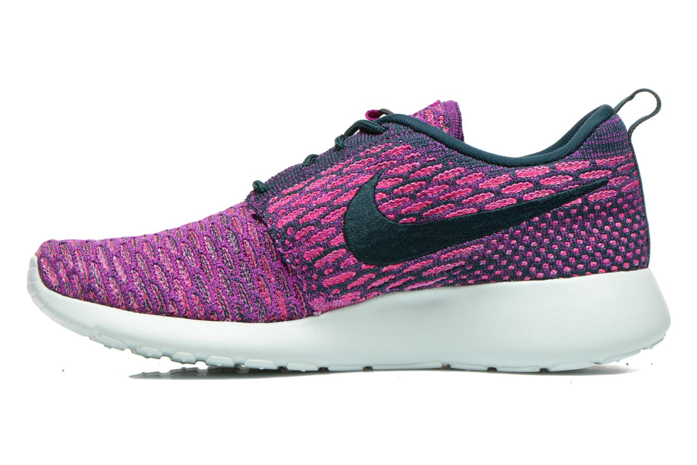 Baskets Nike Wmns Roshe One Flyknit Violet vue face