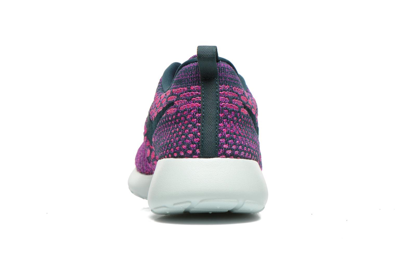 Baskets Nike Wmns Roshe One Flyknit Violet vue droite