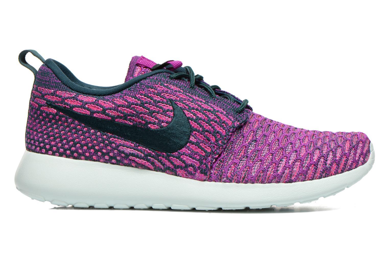 Baskets Nike Wmns Roshe One Flyknit Violet vue derrière