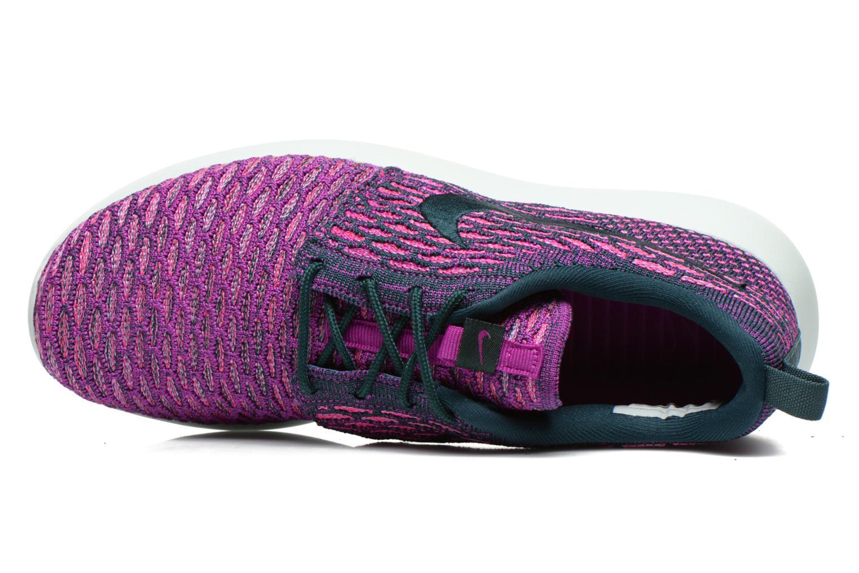 Baskets Nike Wmns Roshe One Flyknit Violet vue gauche