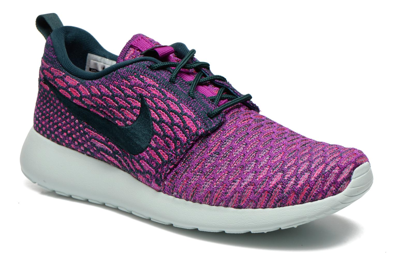 Baskets Nike Wmns Roshe One Flyknit Violet vue détail/paire