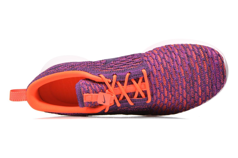 Sneaker Nike Wmns Roshe One Flyknit lila ansicht von links