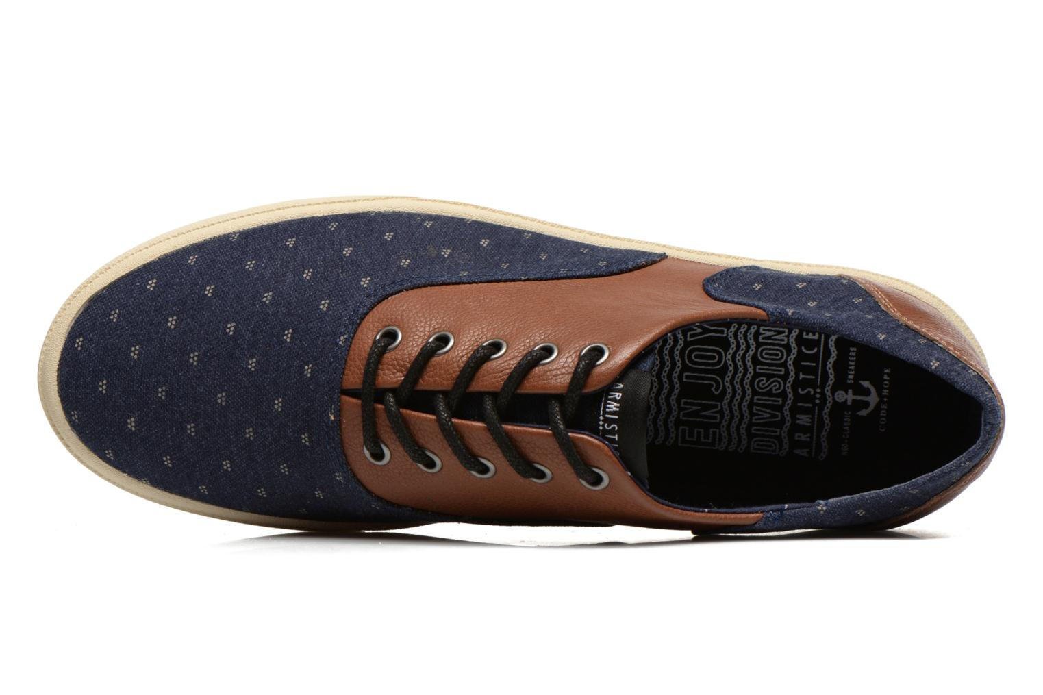 Sneakers Armistice Hope Trainer Ash/Leather Grain Blauw links
