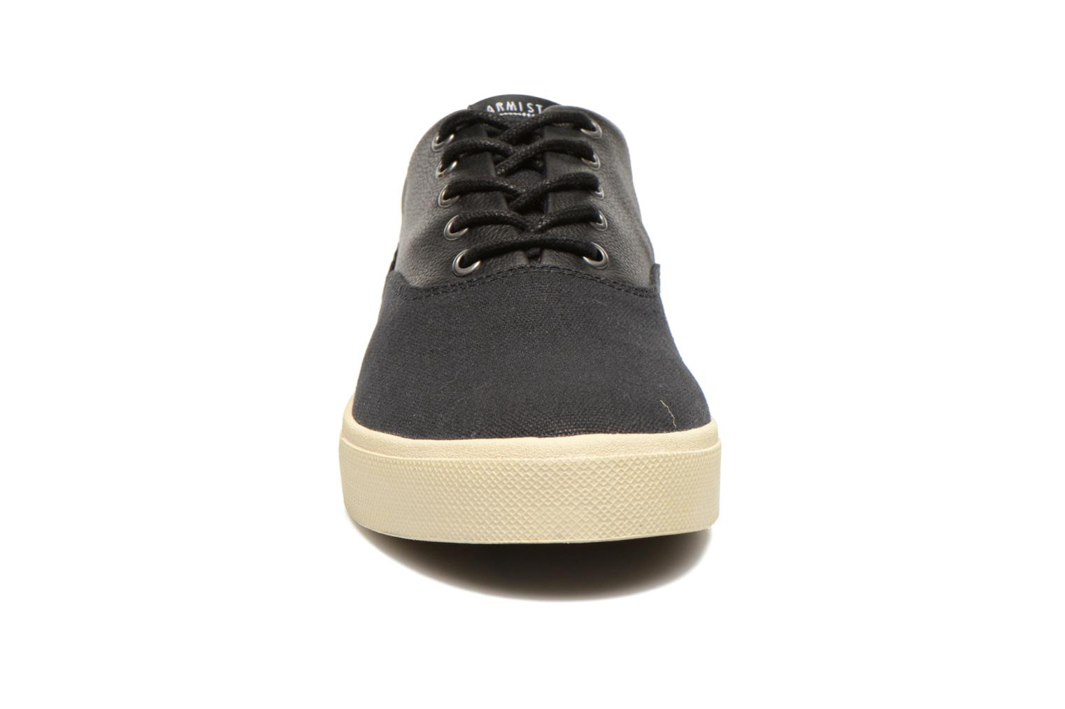Baskets Armistice Hope Trainer Canvas/Leather Grain Noir vue portées chaussures