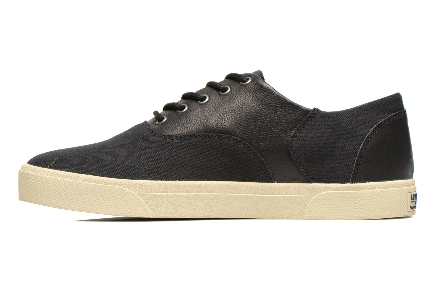 Baskets Armistice Hope Trainer Canvas/Leather Grain Noir vue face