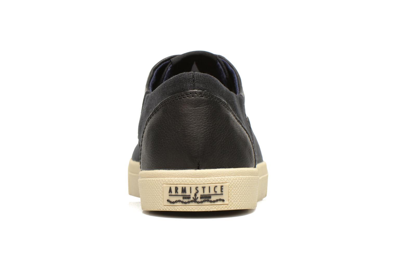 Sneakers Armistice Hope Trainer Canvas/Leather Grain Zwart rechts