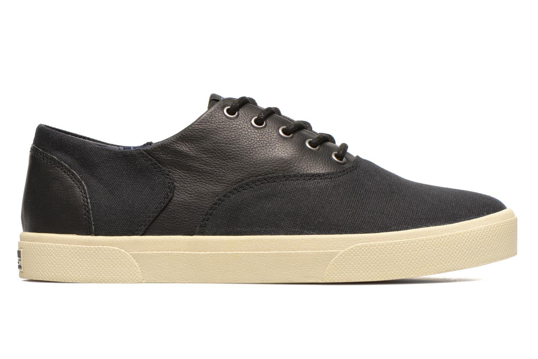 Sneakers Armistice Hope Trainer Canvas/Leather Grain Zwart achterkant