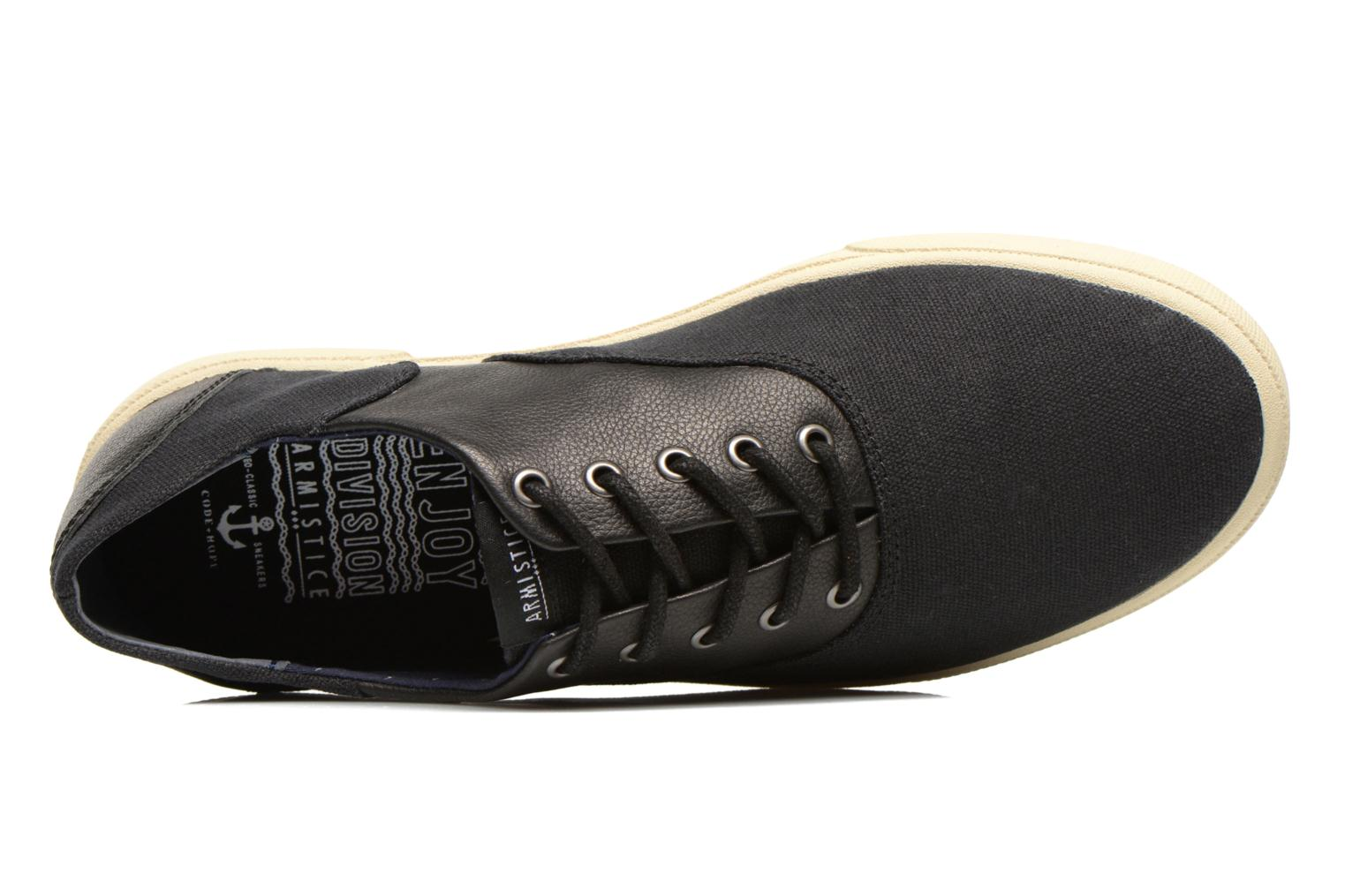 Hope Trainer Canvas/Leather Grain Black/black