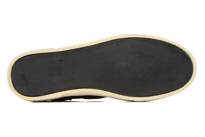 Baskets Armistice Hope Trainer Canvas/Leather Grain Noir vue haut
