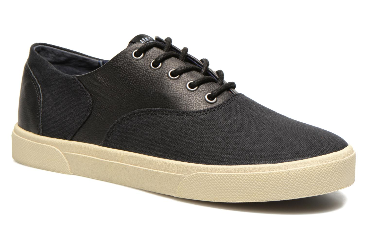 Baskets Armistice Hope Trainer Canvas/Leather Grain Noir vue détail/paire