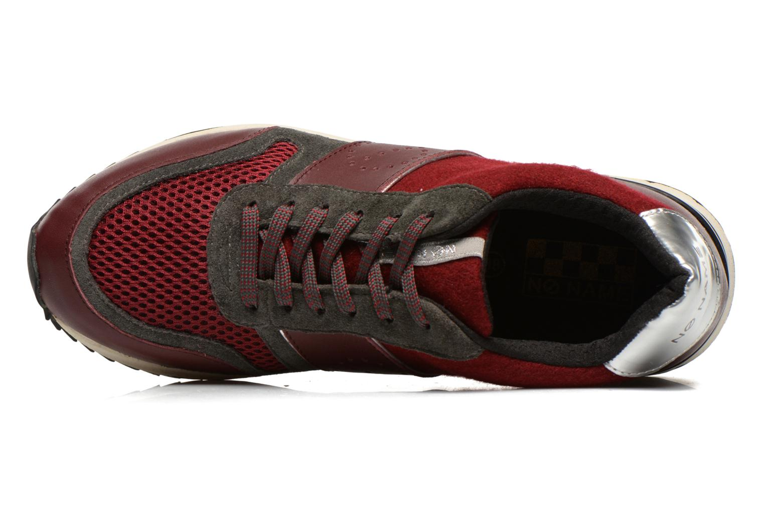 Sneaker No Name Cosmo Jogger weinrot ansicht von links