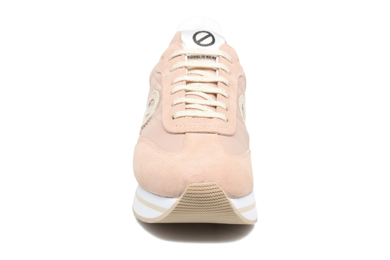 Sneakers No Name Eden Jogger Rosa modello indossato