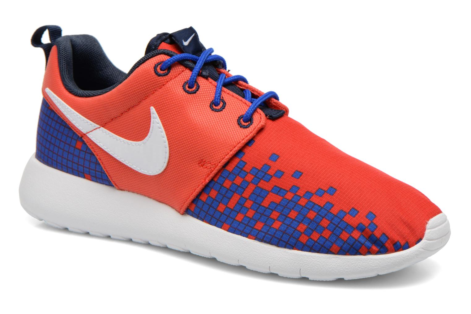 Baskets Nike NIKE ROSHE ONE PRINT (GS) Rouge vue détail/paire
