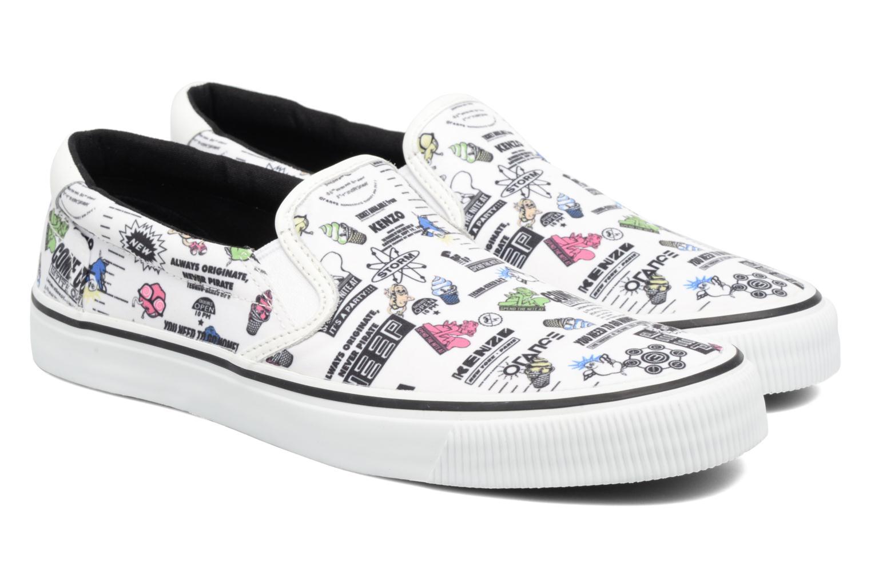Sneakers Kenzo Velvet Vit 3/4 bild