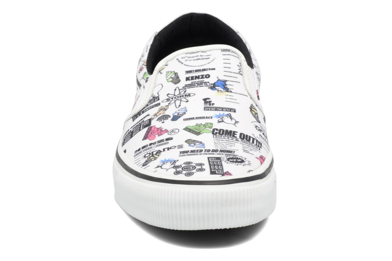 Baskets Kenzo Velvet Blanc vue portées chaussures