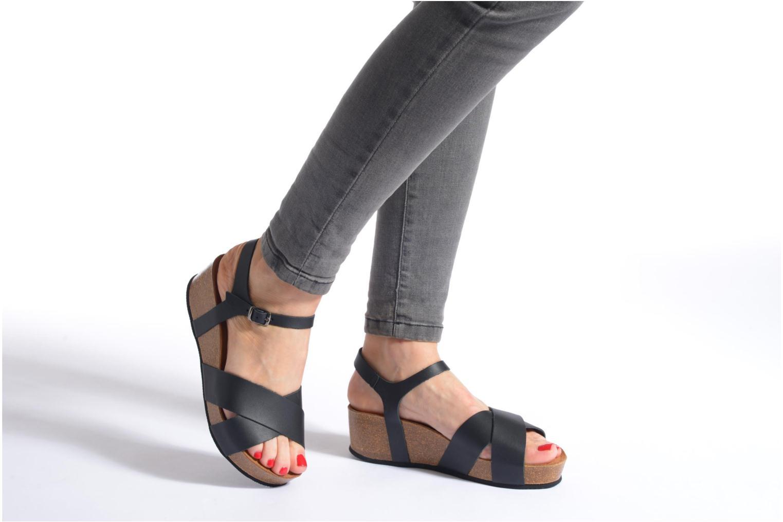 Sandalen I Love Shoes Climatte weiß ansicht von unten / tasche getragen