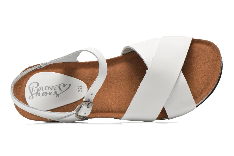 Sandalen I Love Shoes Climatte weiß ansicht von links