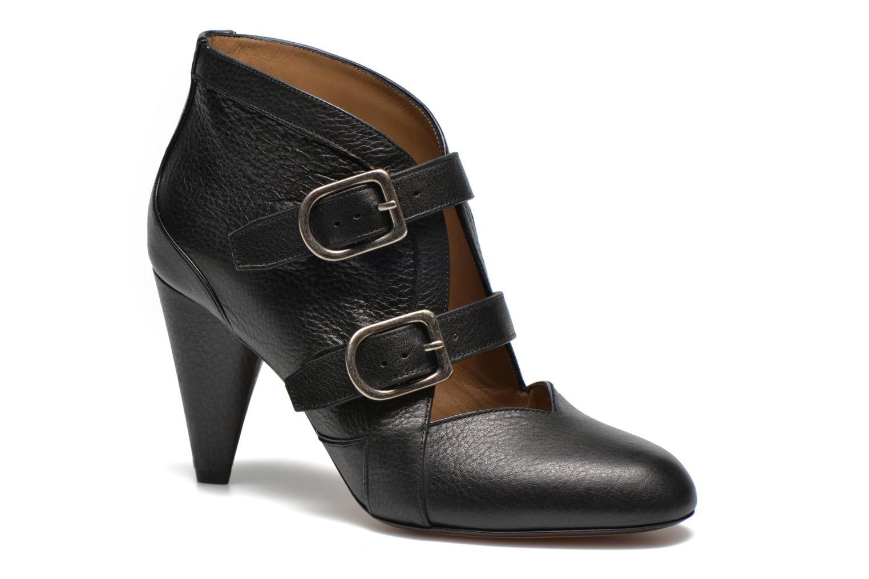 Marques Chaussure luxe femme Sonia Rykiel femme Flat Rykiel Buckle Noir