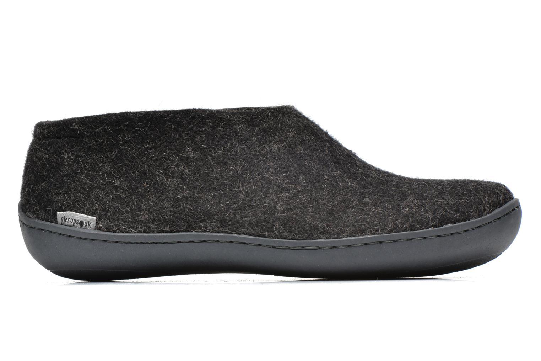 Pantoffels Glerups Porter Gomme M Zwart achterkant