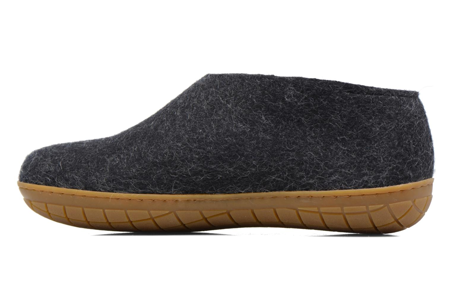 Slippers Glerups Porter Gomme M Black front view