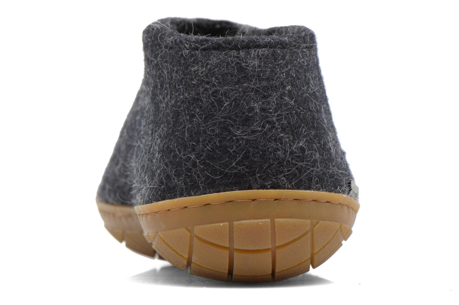 Slippers Glerups Porter Gomme M Black view from the right