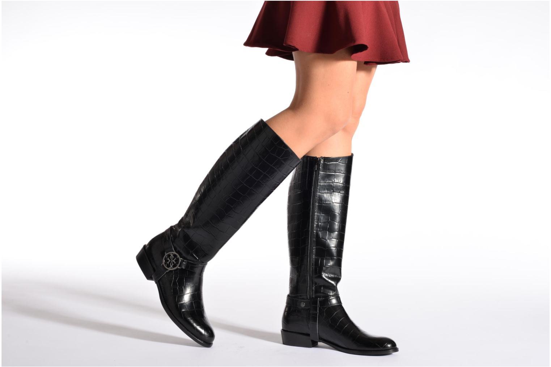 Stiefel Guess Carolah schwarz ansicht von unten / tasche getragen