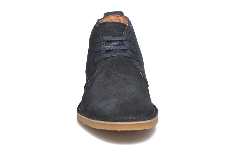 Chaussures à lacets Selected Homme Royce Warm Bleu vue portées chaussures