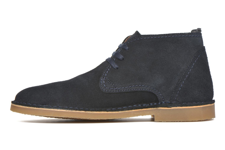 Chaussures à lacets Selected Homme Royce Warm Bleu vue face