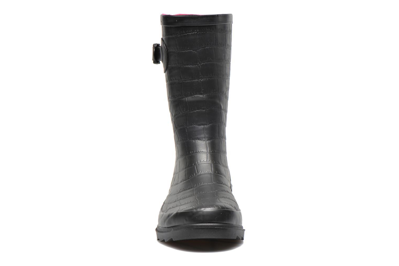 Bottines et boots Be Only Demi Croco Mat Noir vue portées chaussures