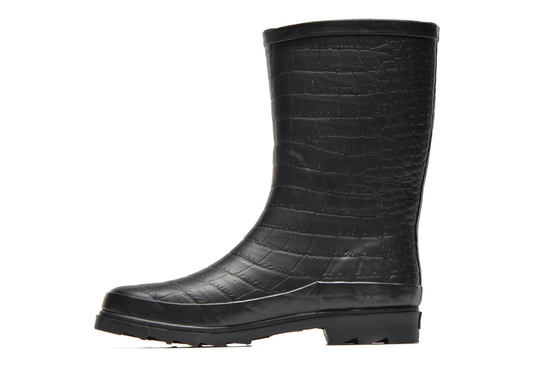 Bottines et boots Be Only Demi Croco Mat Noir vue face