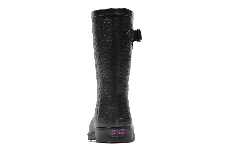 Bottines et boots Be Only Demi Croco Mat Noir vue droite