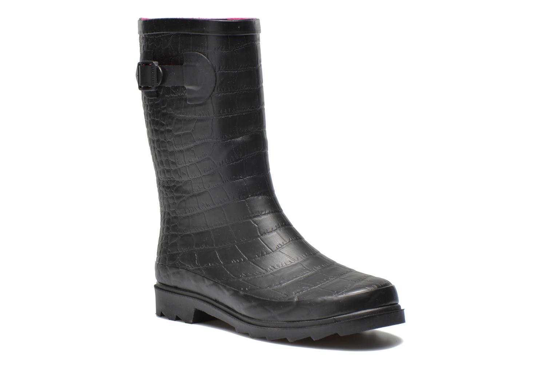 Bottines et boots Be Only Demi Croco Mat Noir vue détail/paire