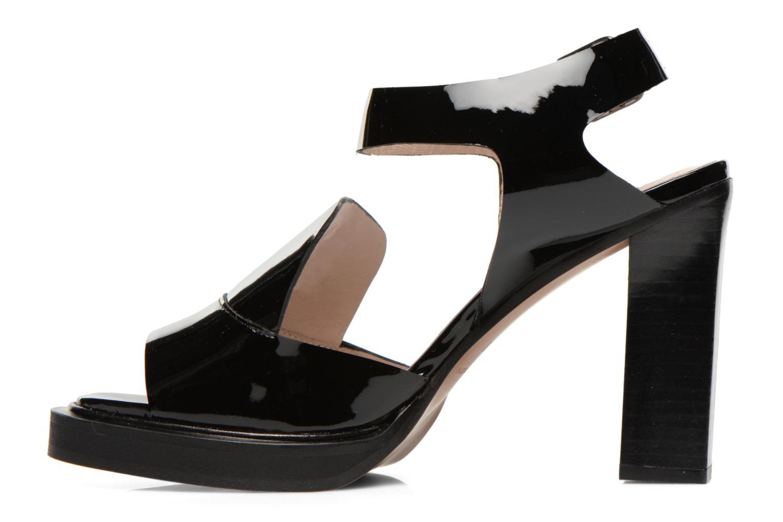Sandales et nu-pieds Carven Dwina Noir vue face