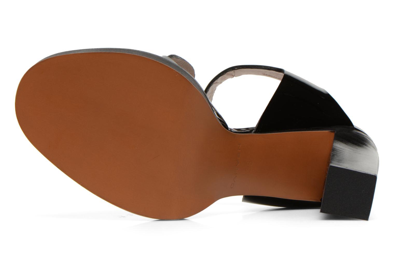 Sandales et nu-pieds Carven Dwina Noir vue haut