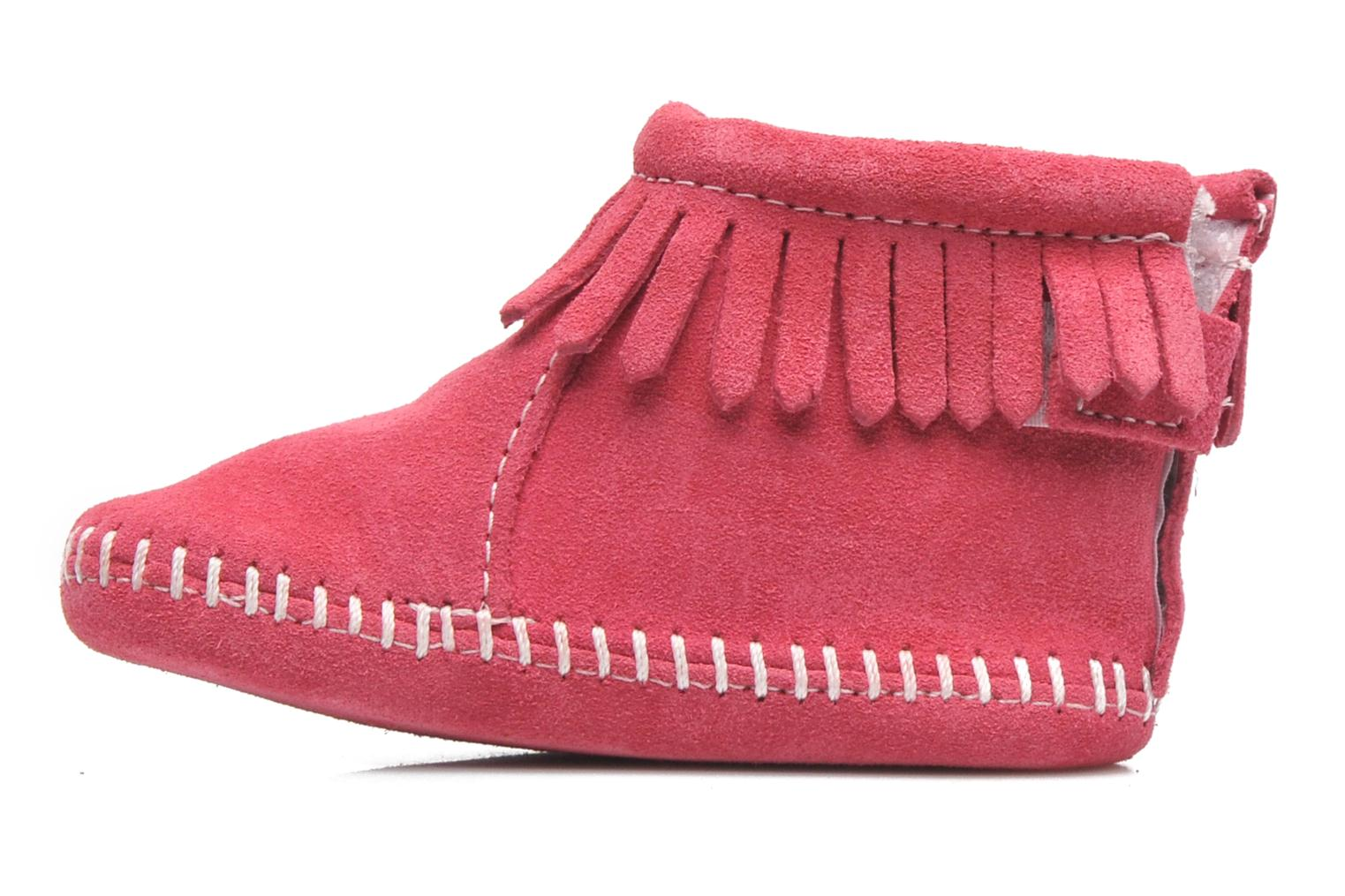 Chaussons Minnetonka Back Flap Bootie Rose vue face