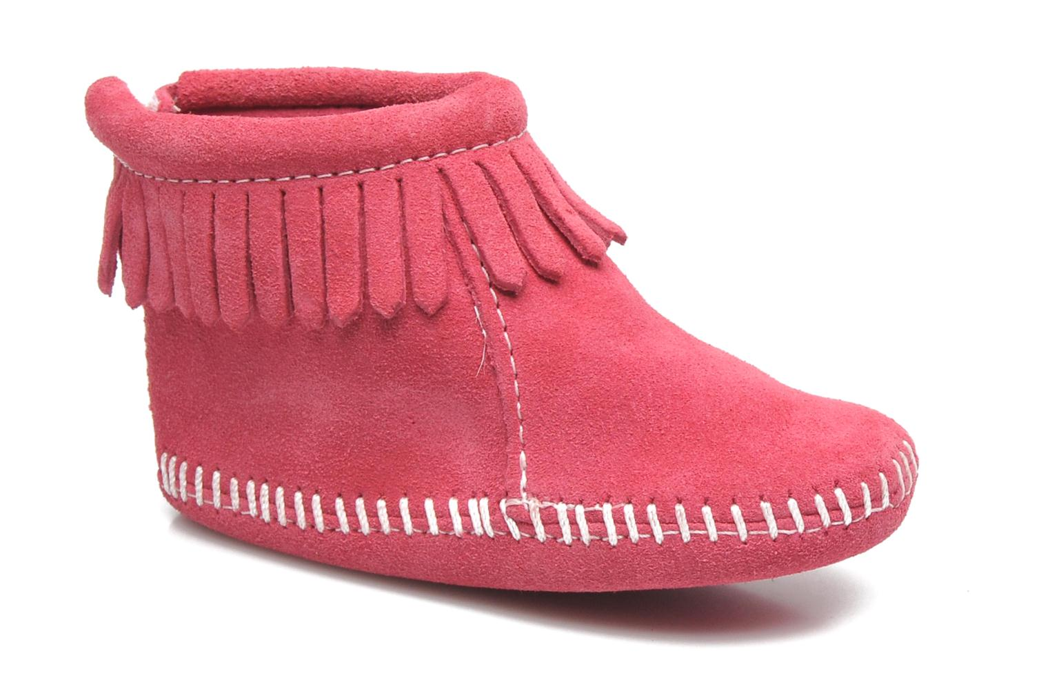 Back Flap Bootie Hot Pink
