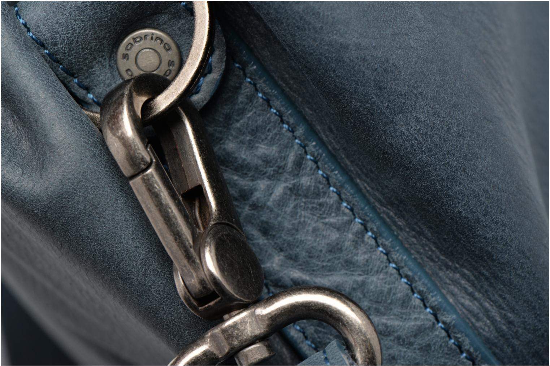 Handtaschen Sabrina Béatrice blau ansicht von links