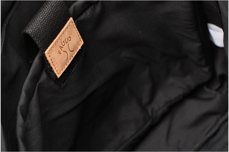 Herrentaschen Faguo Messenger schwarz ansicht von hinten