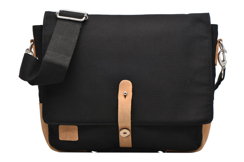 Herrentaschen Faguo Messenger schwarz detaillierte ansicht/modell