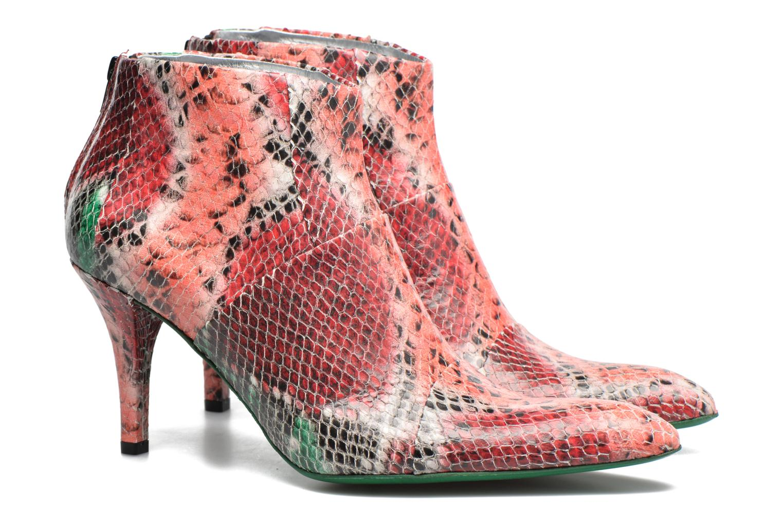 Bottines et boots Free Lance Jaspe 7 Low Zip Boots Rouge vue 3/4