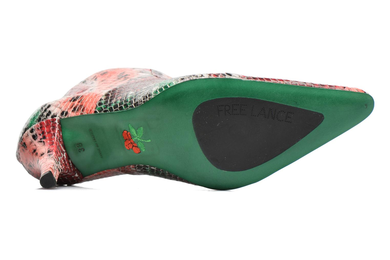 Bottines et boots Free Lance Jaspe 7 Low Zip Boots Rouge vue haut