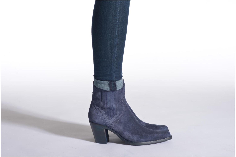 Bottines et boots Free Lance Okao 7 west zip boot Marron vue bas / vue portée sac