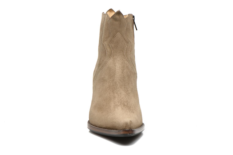 Bottines et boots Free Lance Okao 7 west zip boot Marron vue portées chaussures