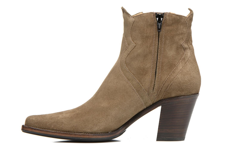 Bottines et boots Free Lance Okao 7 west zip boot Marron vue face