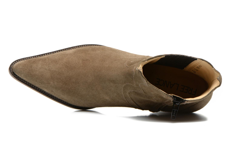 Bottines et boots Free Lance Okao 7 west zip boot Marron vue gauche
