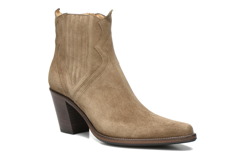 Bottines et boots Free Lance Okao 7 west zip boot Marron vue détail/paire