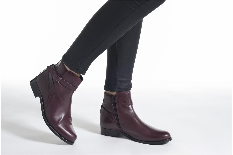 Bottines et boots PintoDiBlu Botania Bordeaux vue bas / vue portée sac