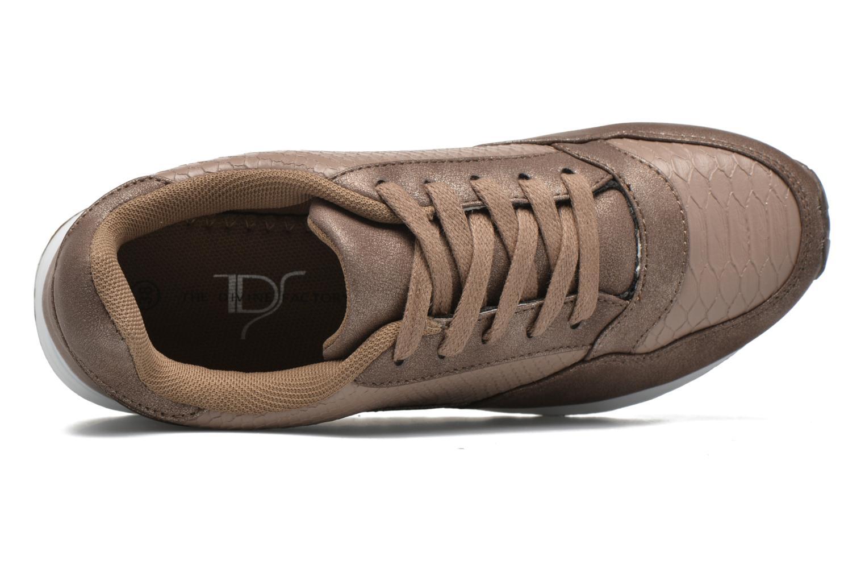 Sneaker Divine Factory Boka beige ansicht von links