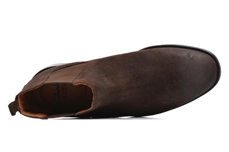 Boots en enkellaarsjes Clarks Chilver Top Bruin links