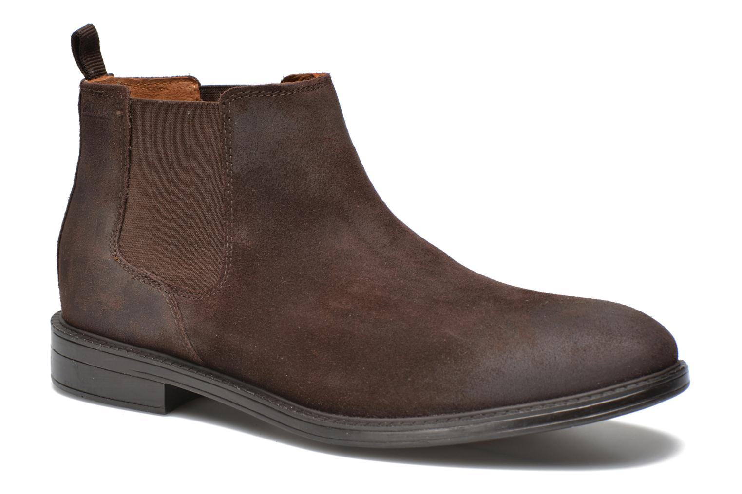 Ankle boots Clarks Chilver Top Brown detailed view/ Pair view